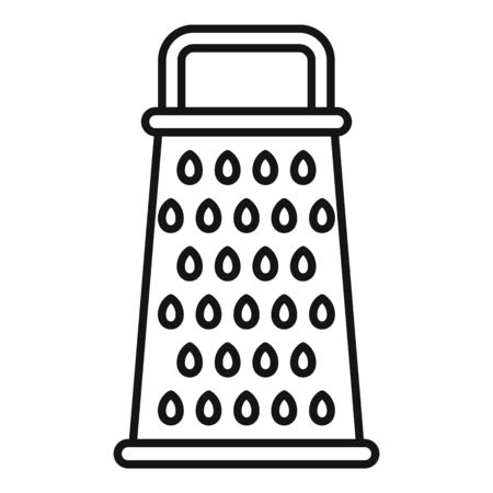 Kitchen grater icon, outline style