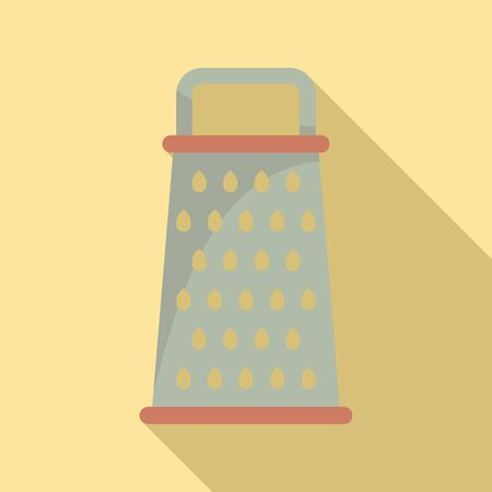 Kitchen grater icon, flat style