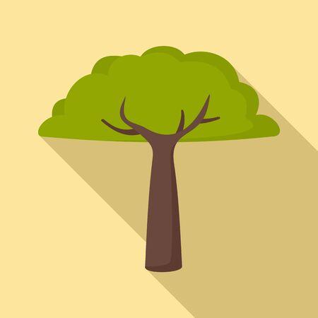 Peru tree icon. Flat illustration of Peru tree vector icon for web design