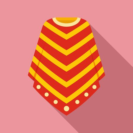 Peru clothes icon. Flat illustration of Peru clothes vector icon for web design Vector Illustration