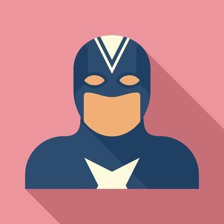 Fantasy superhero icon, flat style