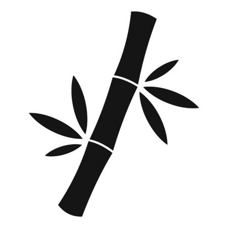 Forest bamboo icon, simple style