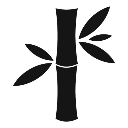 Japan bamboo icon, simple style