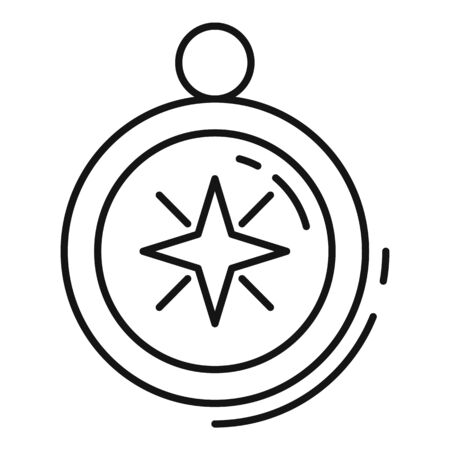 Quest compass icon, outline style