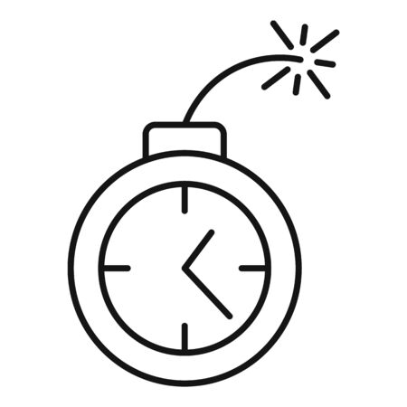 Time remaining bomb icon, outline style Çizim