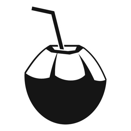 Fresh raw cocktail icon, simple style