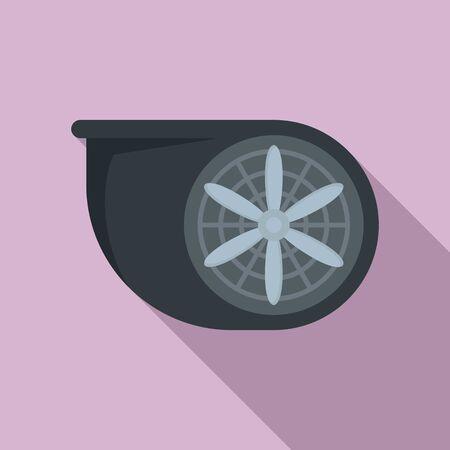 Turbo fan icon, flat style