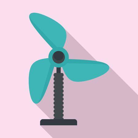 Plastic fan icon, flat style