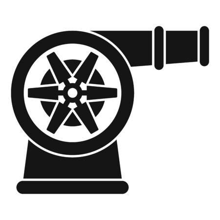 Car turbo fan icon, simple style