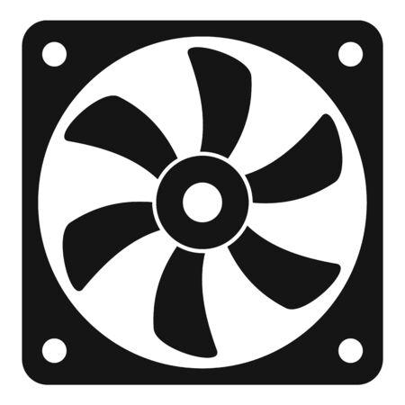 Pc system fan icon, simple style Векторная Иллюстрация