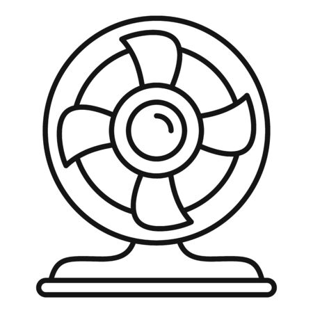 Turbo fan icon, outline style Illustration