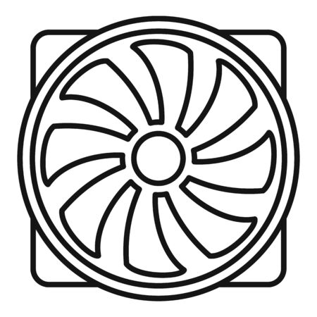 Pc plastic fan icon. Outline pc plastic fan vector icon for web design isolated on white background