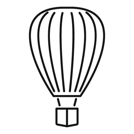 Design air balloon icon. Outline design air balloon vector icon for web design isolated on white background
