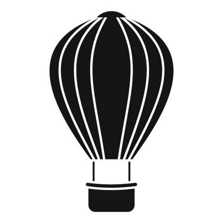 Icona dell'aerostato di aria del cielo. Semplice illustrazione del cielo mongolfiera icona vettoriali per il web design isolato su sfondo bianco Vettoriali