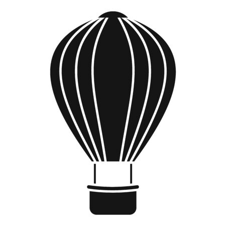 Sky air balloon icon. Simple illustration of sky air balloon vector icon for web design isolated on white background Vector Illustration