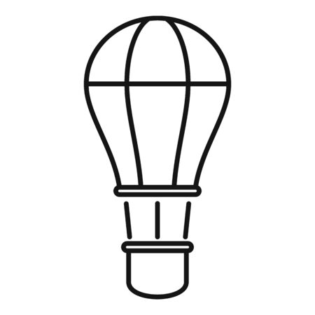 Fly air balloon icon, outline style