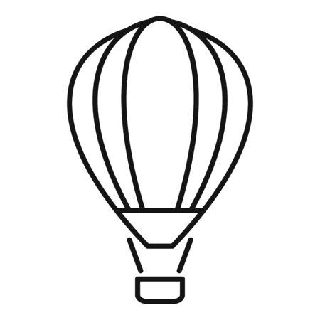 Retro air balloon icon. Outline retro air balloon vector icon for web design isolated on white background Vetores