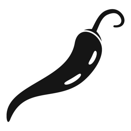Restaurant chili pepper icon, simple style