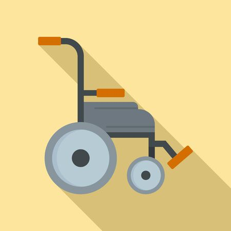 Safety wheelchair icon, flat style