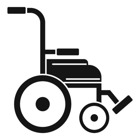 Safety wheelchair icon. Simple illustration of safety wheelchair vector icon for web design isolated on white background