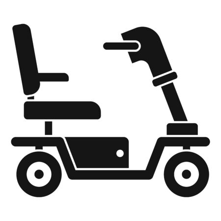 Motorized wheelchair icon. Simple illustration of motorized wheelchair vector icon for web design isolated on white background
