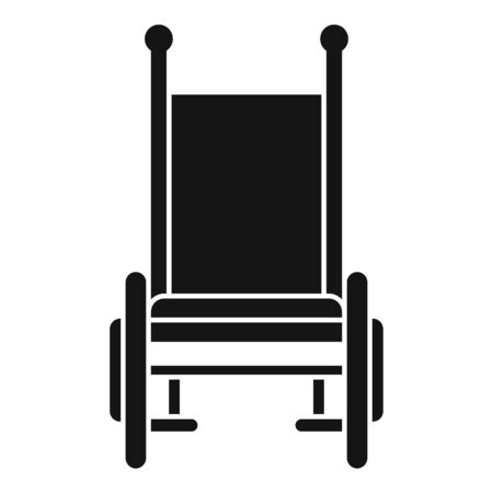 Front view wheelchair icon. Simple illustration of front view wheelchair vector icon for web design isolated on white background