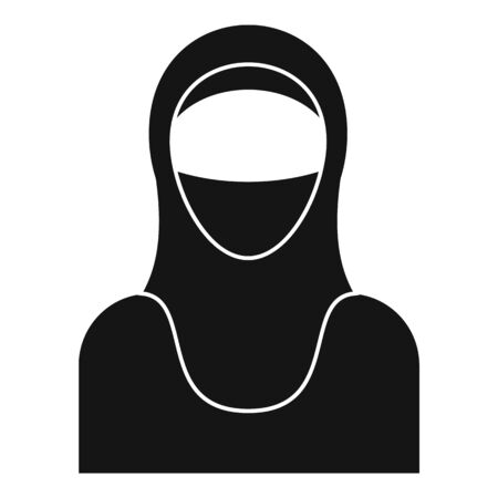 Muslim woman icon. Simple illustration of muslim woman vector icon for web design isolated on white background Archivio Fotografico - 137272818