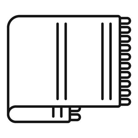 Icono de manta de lana. Manta de lana de esquema icono vectoriales para diseño web aislado sobre fondo blanco.
