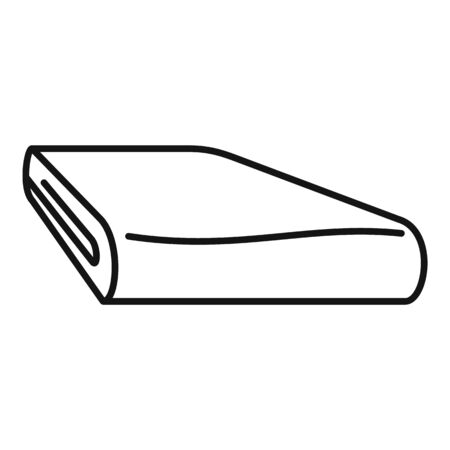 Icono de manta de invierno. Esquema de manta de invierno icono vectoriales para diseño web aislado sobre fondo blanco.