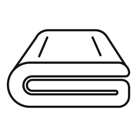Envuelva el icono de la manta. Manta de abrigo de contorno icono vectoriales para diseño web aislado sobre fondo blanco.