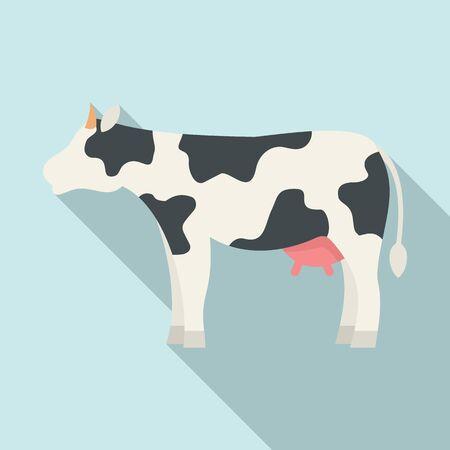 Diary cow icon, flat style Çizim