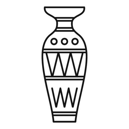 Egyptian vase icon, outline style