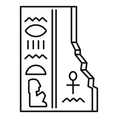 Ancient stone table icon, outline style