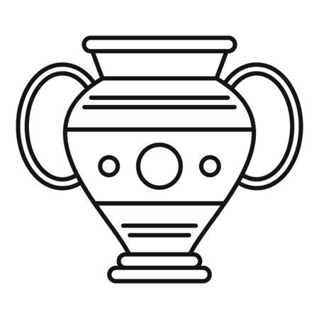 Egypt vase icon, outline style