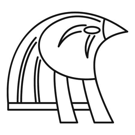 Egypt falcon head icon, outline style