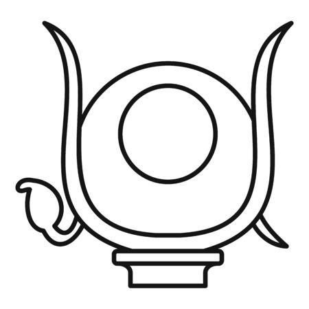 Isida headwear icon, outline style Illusztráció