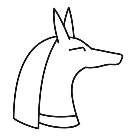 Egypt dog head icon, outline style
