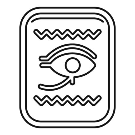 Egypt gold card icon, outline style