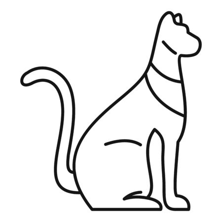 Egypt cat icon, outline style