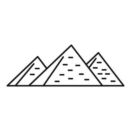 Egypt pyramids icon, outline style