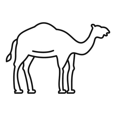 Egypt camel icon. Outline egypt camel vector icon for web design isolated on white background Archivio Fotografico - 137370956