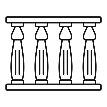 Egypt temple towers icon. Outline egypt temple towers vector icon for web design isolated on white background Illusztráció