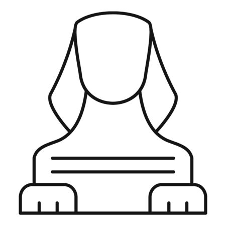 Sphinx icon, outline style