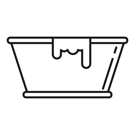 Milk basin icon, outline style Illustration