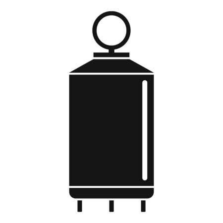 Milk factory cistern icon. Simple illustration of milk factory cistern vector icon for web design isolated on white background