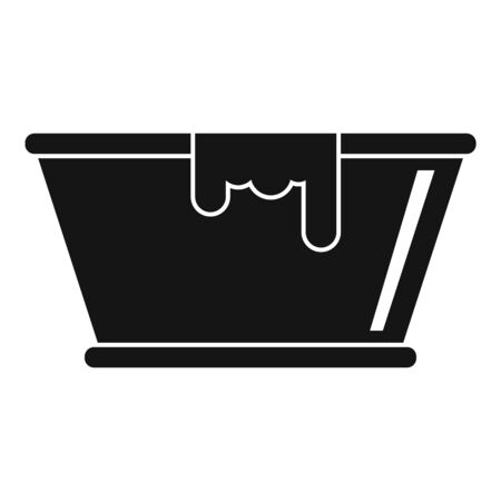 Milk basin icon, simple style Illustration