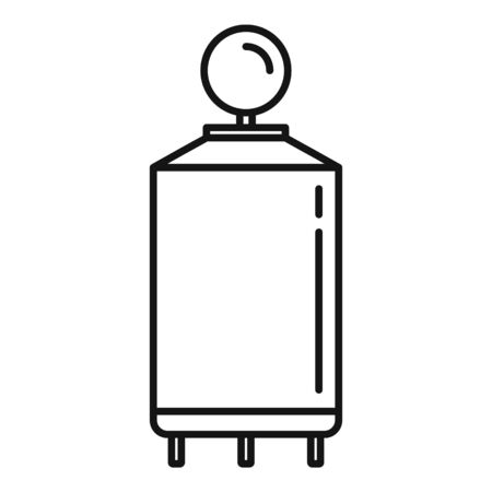 Milk factory cistern icon, outline style
