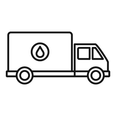 Milk delivery truck icon, outline style