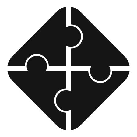 Graphic puzzle icon, simple style