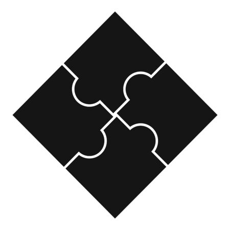 Sequence puzzle icon, simple style
